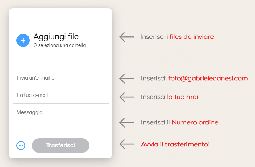 Wetransfer Invio Files